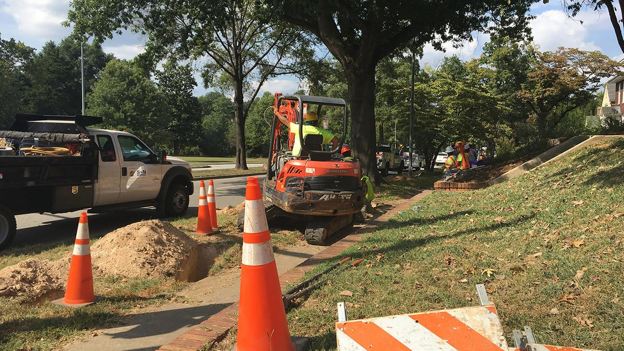 Glenwood Avenue gas leak