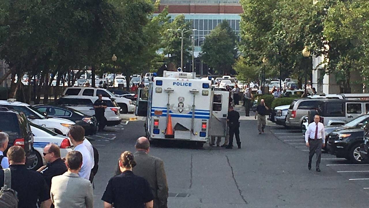 Charlotte police headquarters evacuated after suspicious package found