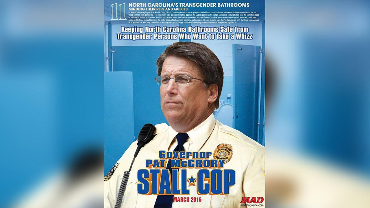 MAD Magazine is putting Gov. Pat McCrory on its 20 Dumbest List because of House Bill 2