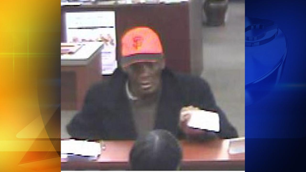 Surveillance image of the suspected Chapel Hill bank robber