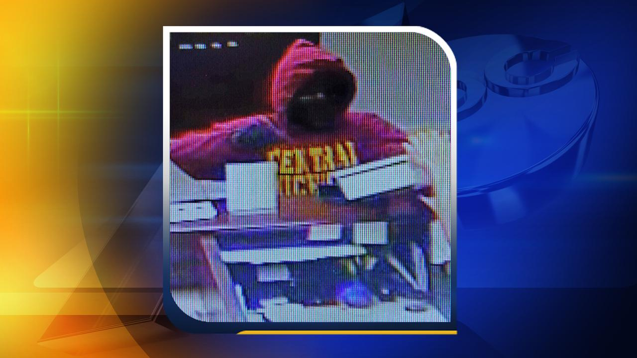 Surveillance photo of the robbery suspect at Lumbee Guaranty Bank