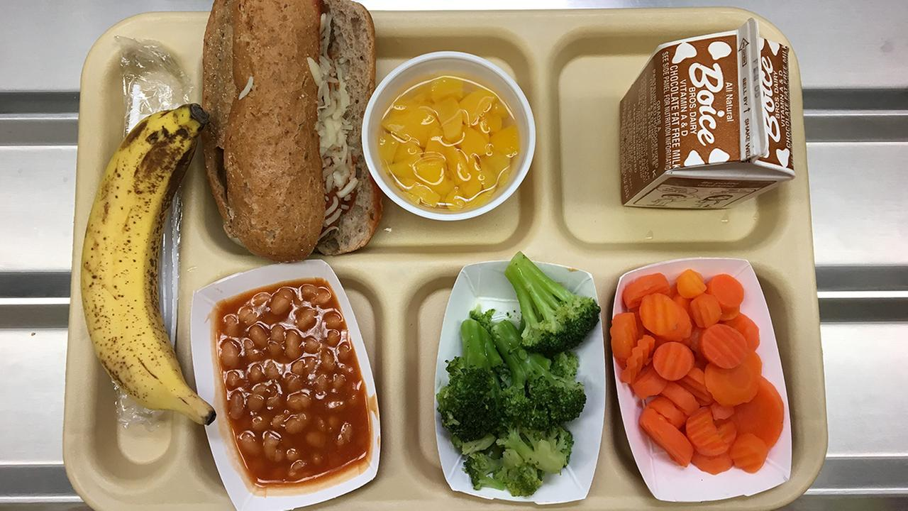 This Jan. 25, 2017 file photo shows a lunch served at J.F.K Elementary School in Kingston, N.Y.