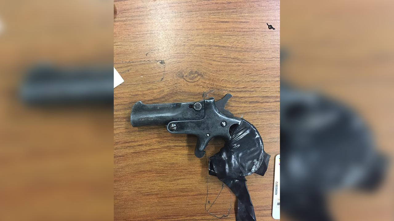 Baltimore Police confiscated this handgun