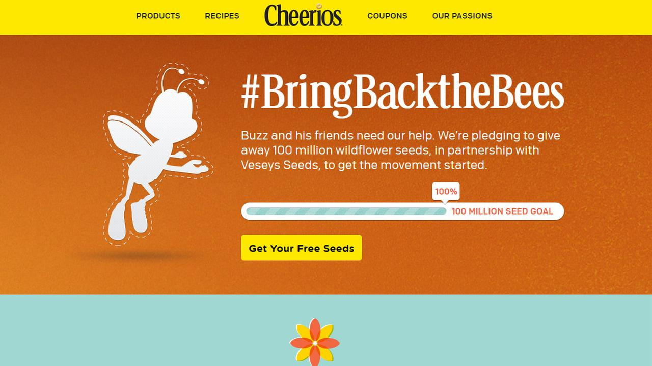Cheerios gives away seeds to boost bee populations