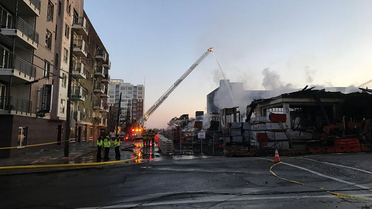 Aftermath from massive fire that engulfed a downtown Raleigh apartment building