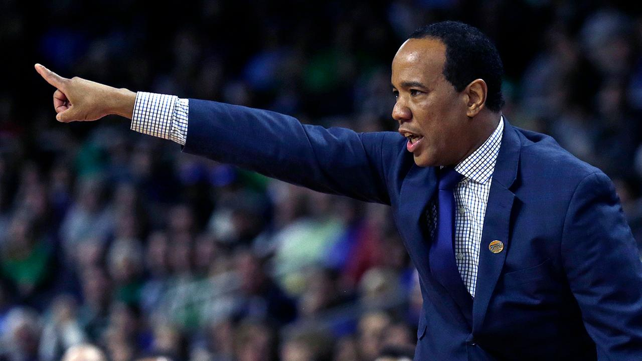 North Carolina-Wilmington head coach Kevin Keatts gestures against Duke in the first half in the first round of the NCAA college mens basketball tournament in Providence, R.I., Thursday, March 17, 2016.
