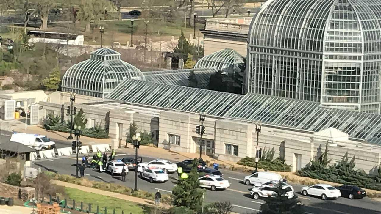 Capitol Police reportedly fired shots at a suspect after the person attempted to run over several officers.
