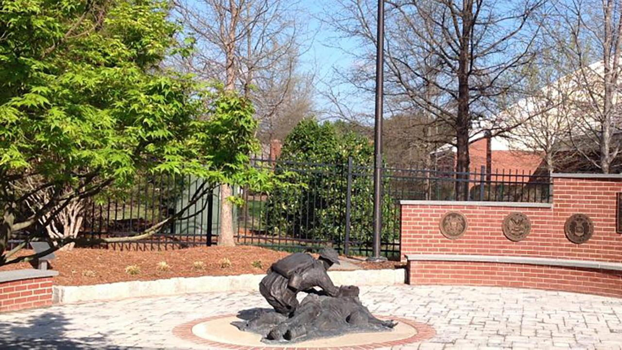 Memorial garden at the Eugene A. Stead, Jr. Center for PAs in Durham, North Carolina.