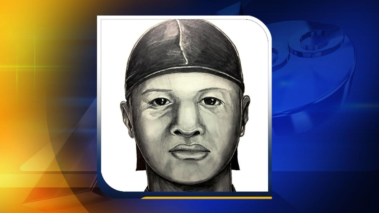 Detectives worked with the victims to compose a sketch of the suspect