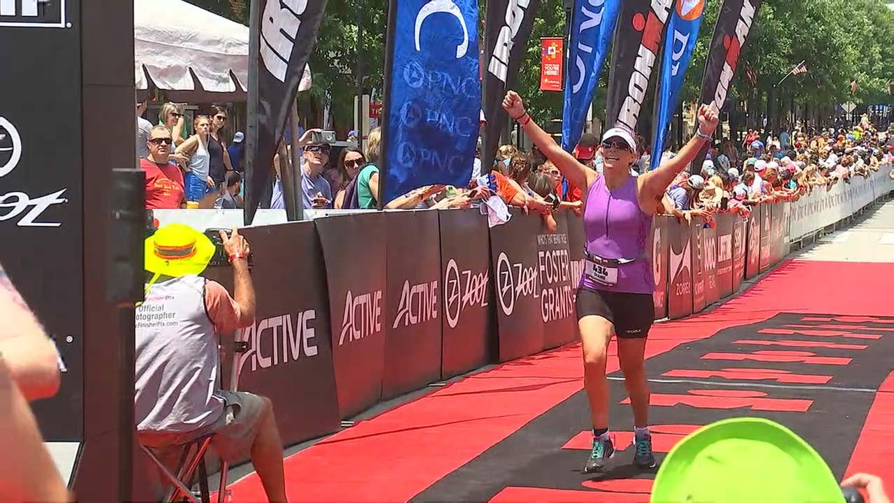 Diane Wilson completed the Raleigh Half Ironman on Sunday