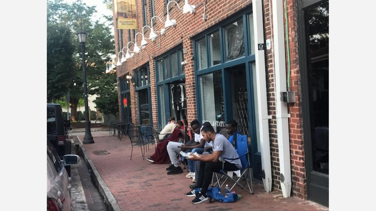 Adidas fans camp out in Raleigh for shoes