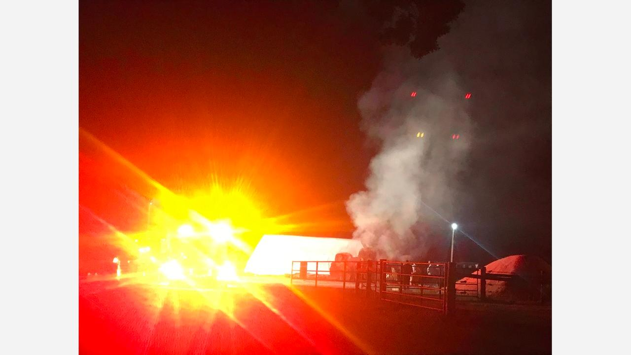 Smoke billows from hay fire at NC State