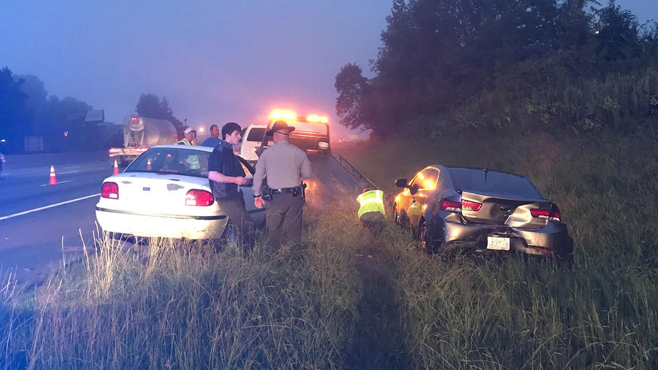 Seven cars involved in two crashes at mile marker 155 on I-40/85 in Orange County