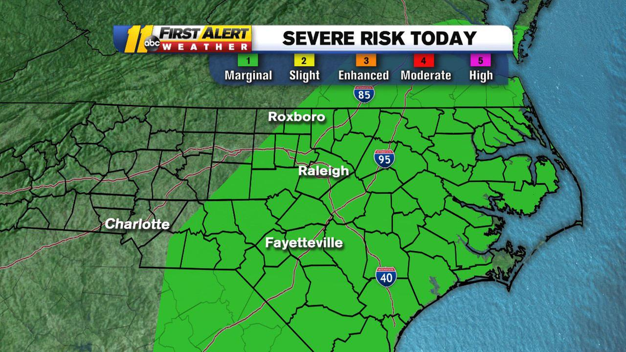 Grab the umbrella, risk for severe weather today!