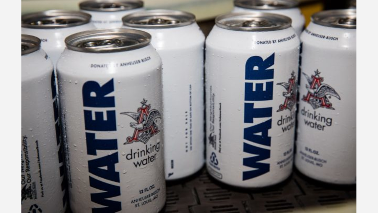 Anheuser-Busch sends 3 truckloads of water to Hurricane Harvey victims