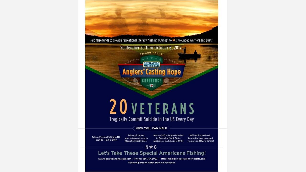 Volunteers sought for veterans fishing challenge