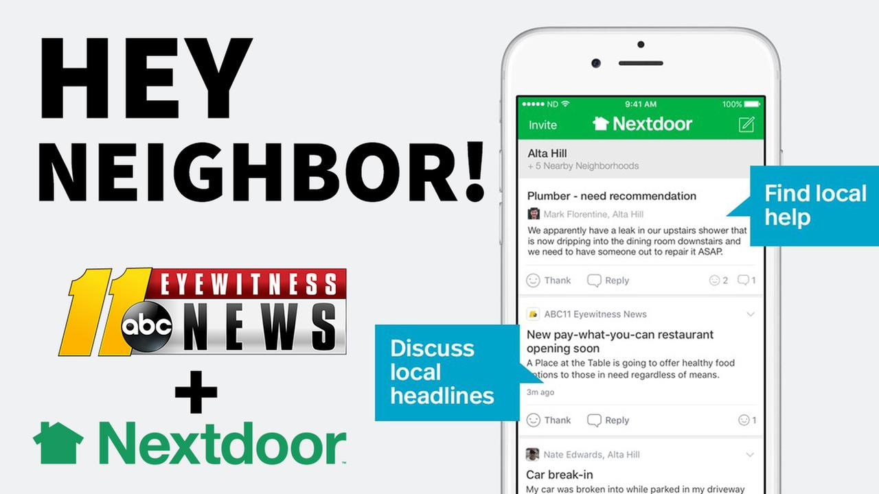 ABC11 is Now in Your Nextdoor Neighborhood
