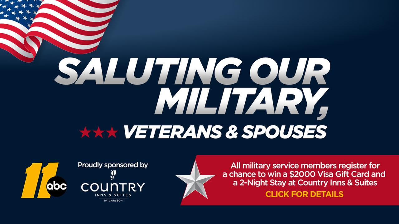 Saluting our military sweepstakes