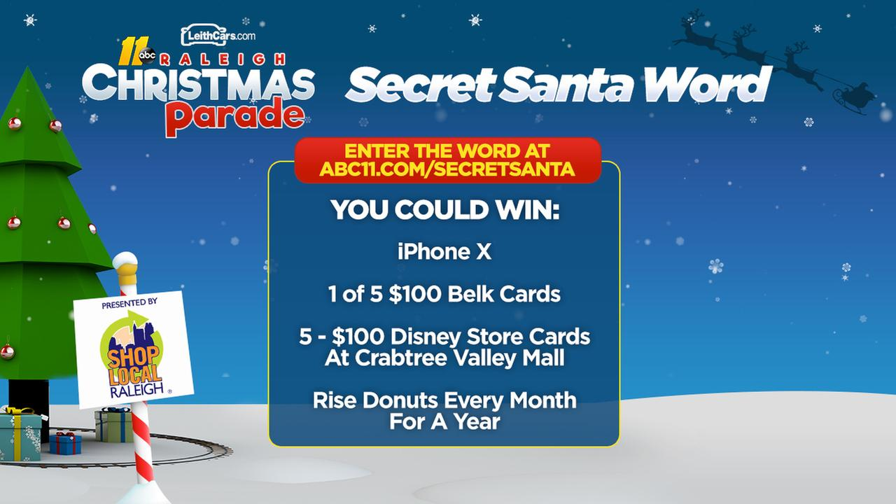 ABC11 Secret Santa Sweepstakes winners