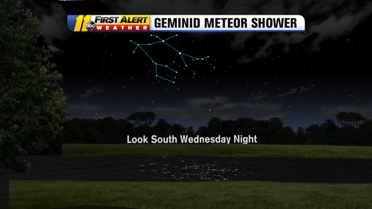 Geminid meteor shower peaks this Wednesday