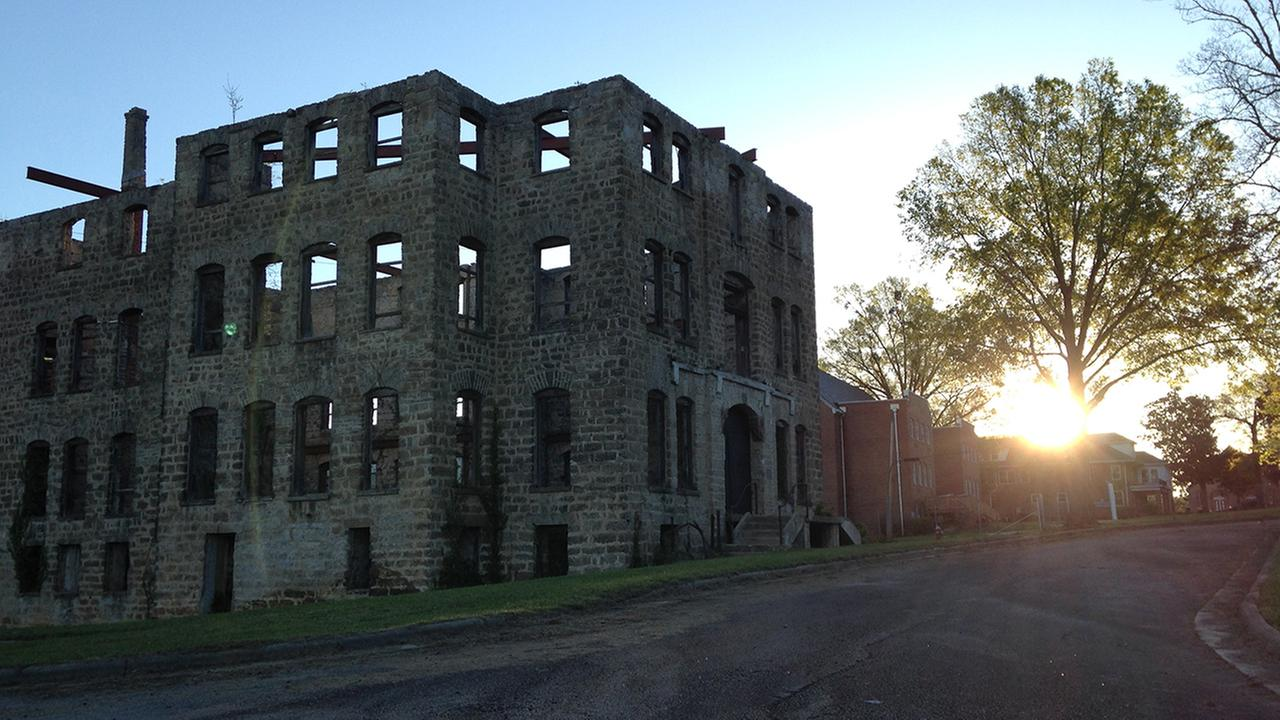 A shell of a building is all that remains of St. Agnes Hospital in Raleigh.