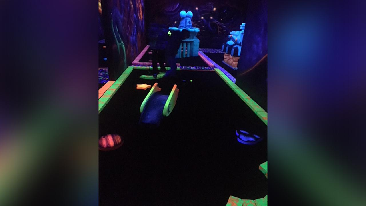 NOW OPEN: Indoor blacklight mini-golf at Galaxy Fun Park