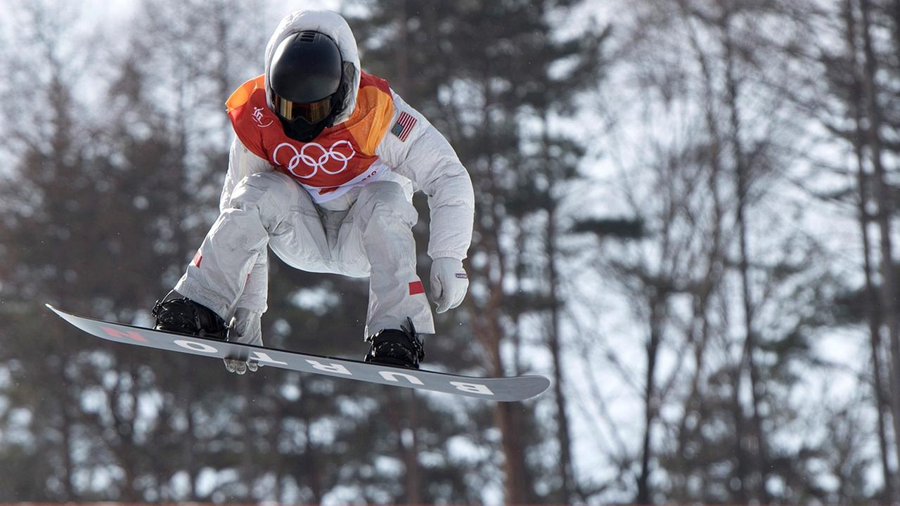 Shaun White, of the United States, rides during the mens snowboard halfpipe at the Phoenix Snow Park at the Pyeongchang 2018 Winter Olympic Games in South Korea, Tuesday.