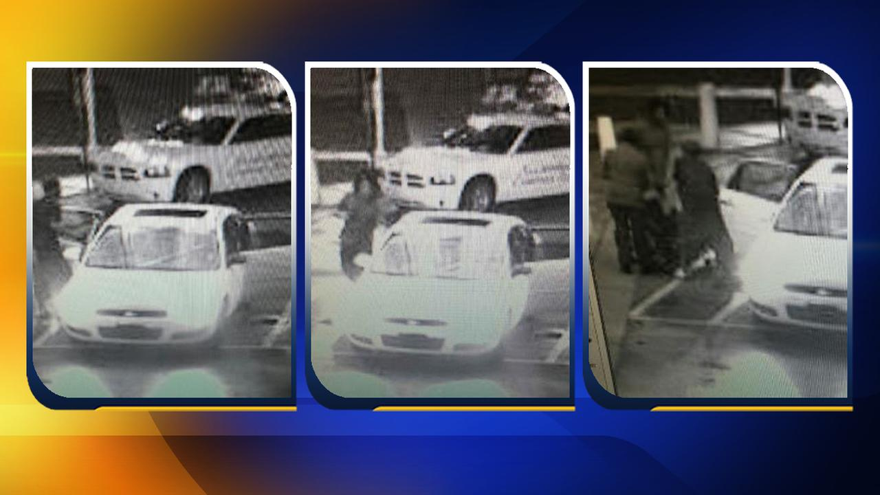 If you recognize this white, four-door vehicle or any of the people caught on camera, please contact the Fayetteville Police Department at (910) 587-3254 or Crimestoppers at (910) 483-TIPS (8477).
