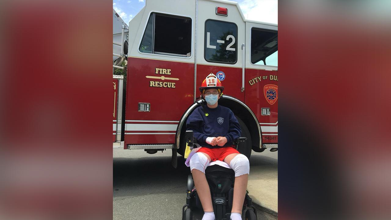 Firefighter for a day: Durham fire shows Devin the ropes
