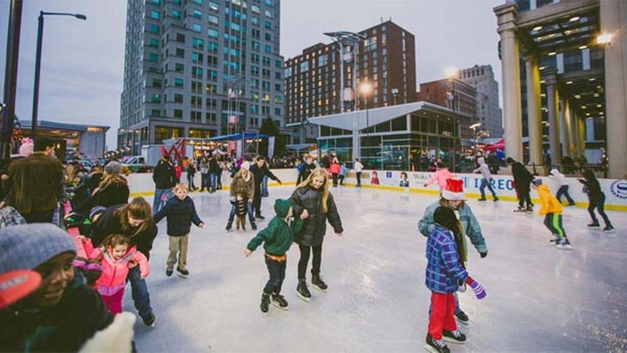 Raleigh Winterfest ice rink