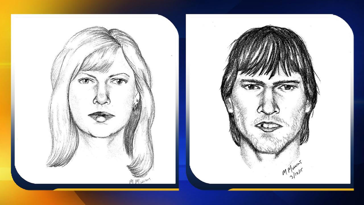Sketches of two suspects (Courtesy: Chatham County Sheriffs Office)