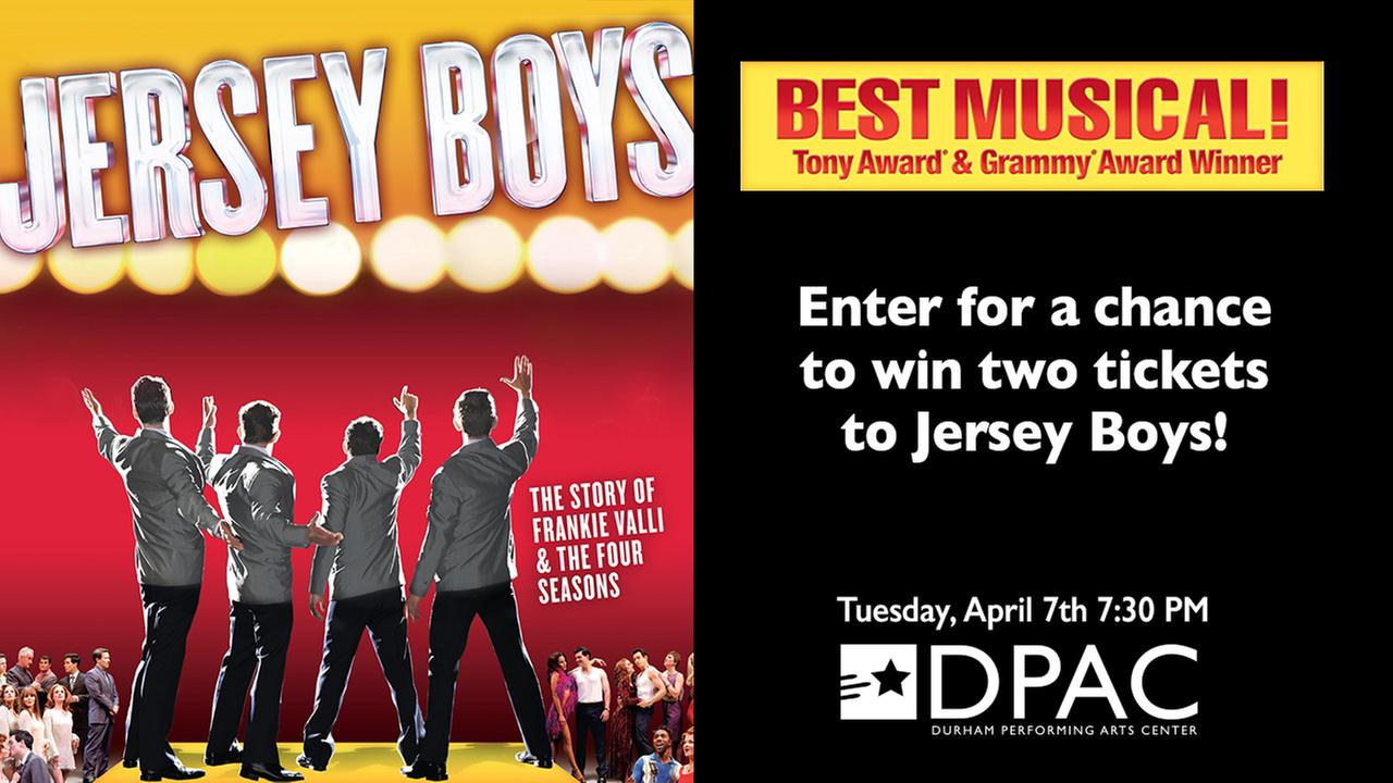 DPAC Jersey Boys Sweepstakes