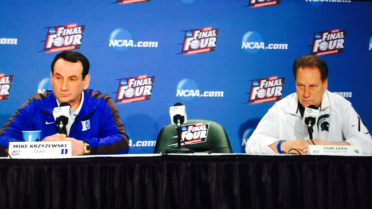 Coaches sit down with the press in Indianapolis before the Final Four weekend