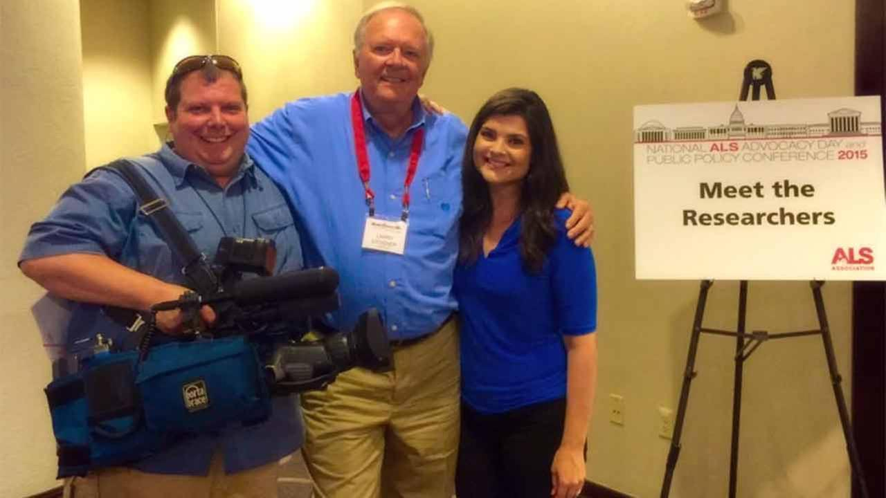 Former ABC11 anchor Larry Stogner attends National ALS Advocacy Day in Washington, D.C.