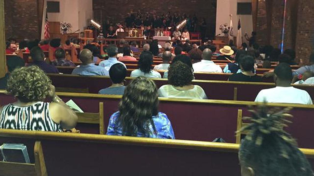 Fayetteville vigil for Charleston shooting victim
