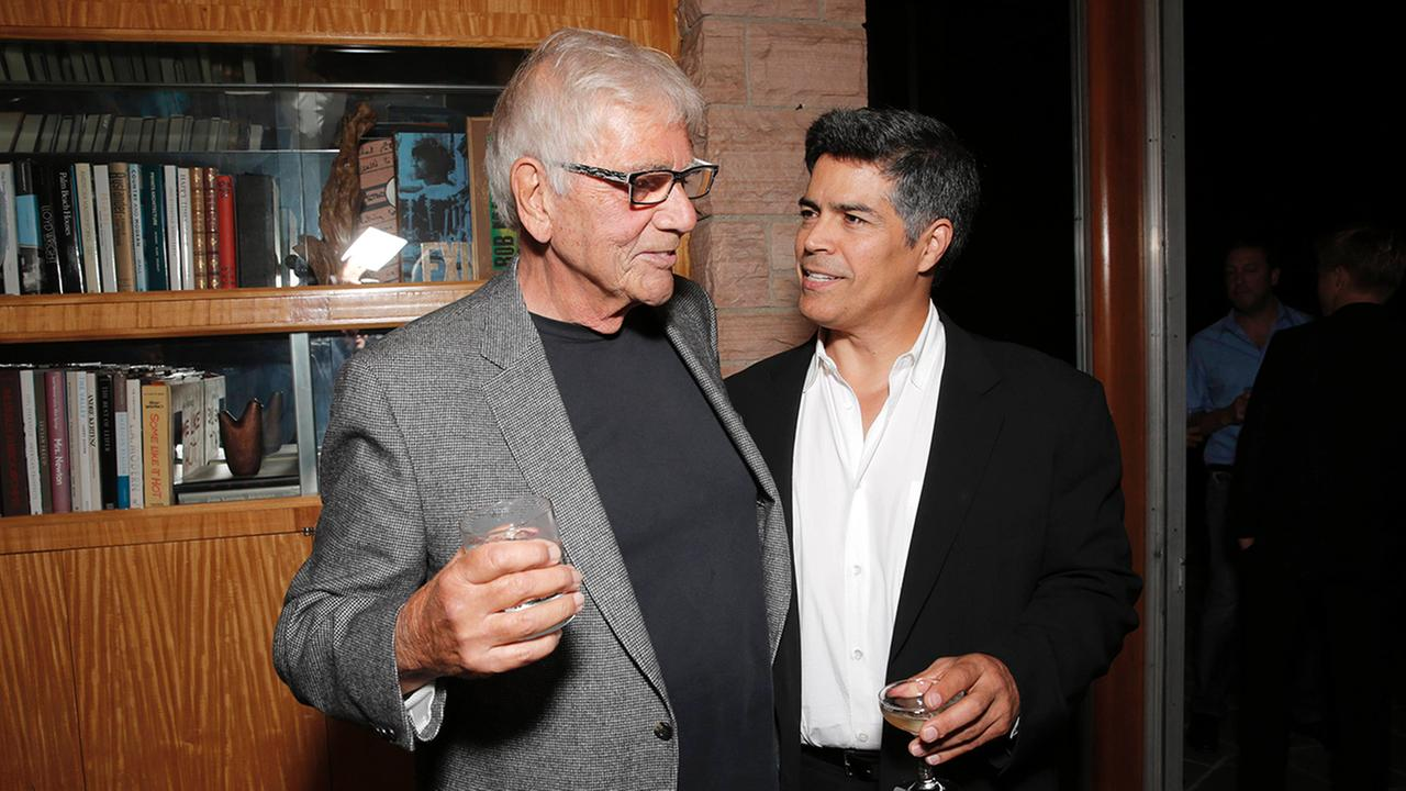 Alex Rocco, left, and Esai Morales attend the Magic City season 2 premiere after party on Monday, June 3, 2013, in Los Angeles.