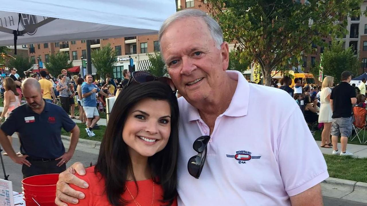 Weekend anchor Heather Waliga hangs out with retired ABC11 anchor Larry Stogner at the Ice Bucket Challenge event in Raleigh