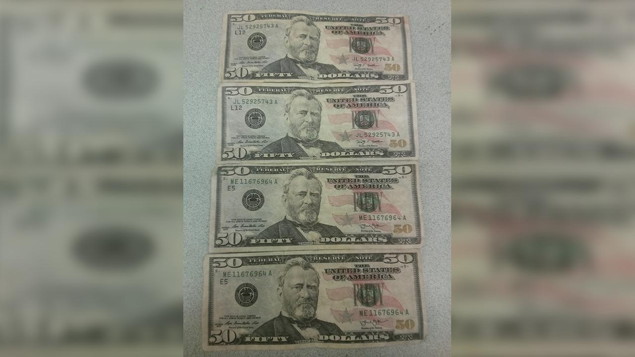 Counterfeit $50 bills used in Smithfield