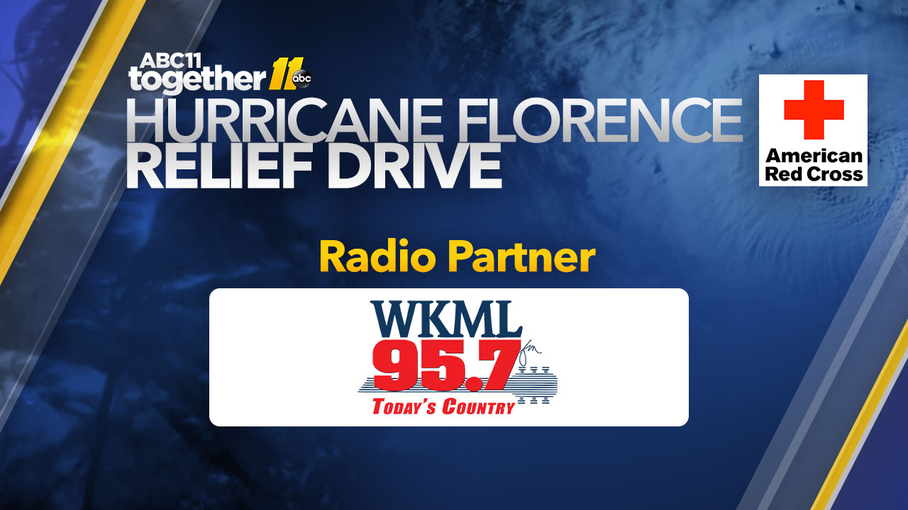 Local radio station partners with ABC11 for the Hurricane Florence Relief Drive