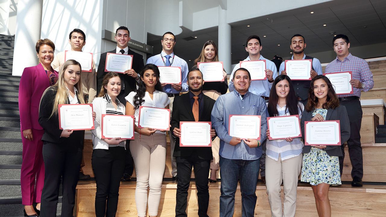 Honda and Hispanic Scholarship Fund promote educational success by honoring Latino students with scholarship and internship opportunities.
