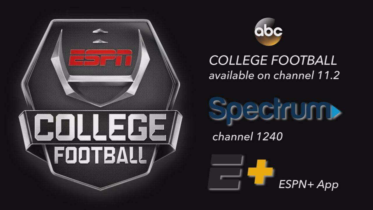 ABC college football airing on 11.2, Spectrum 1240, ESPN app