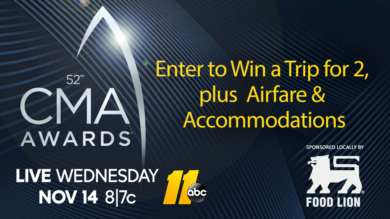 Win a trip for 2 to the CMA Awards in Nashville on November 14, 2018!