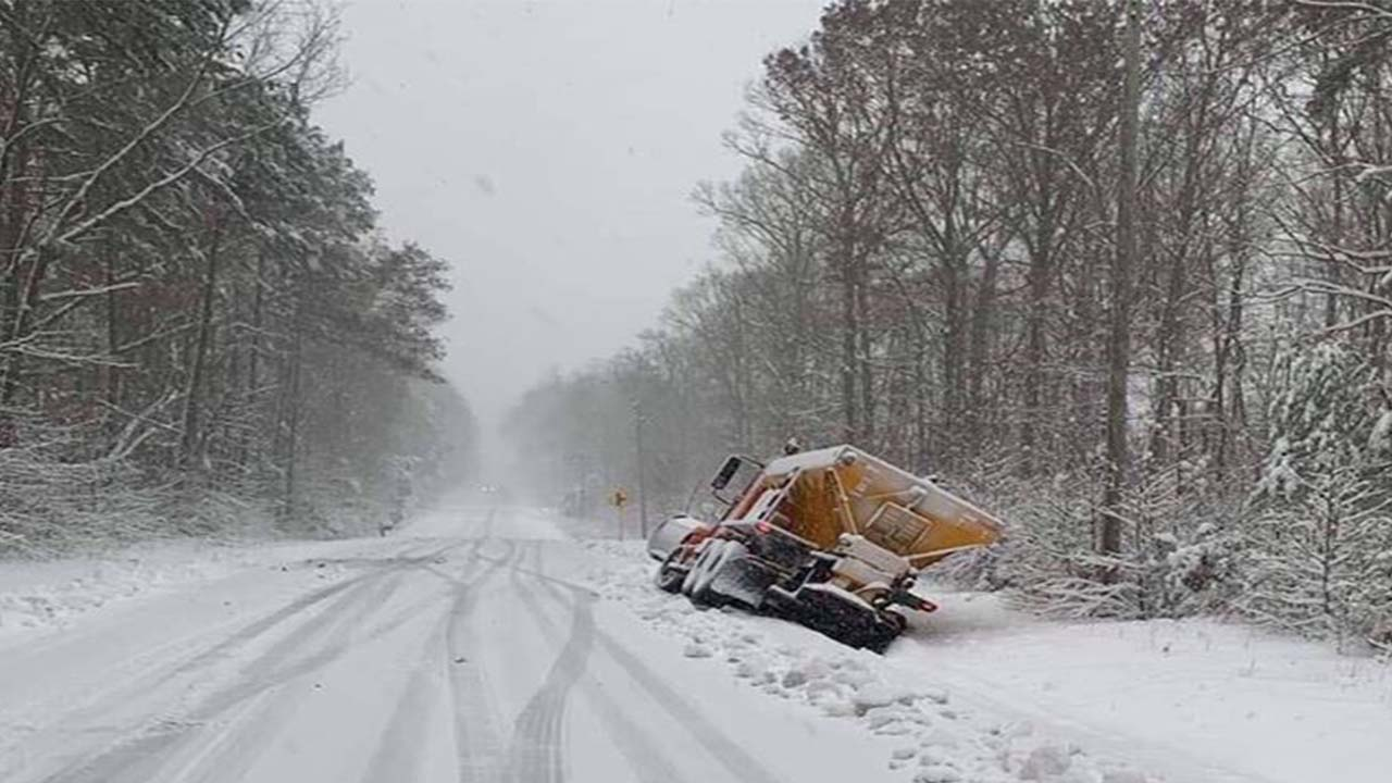Snowplow stuck in Orange County