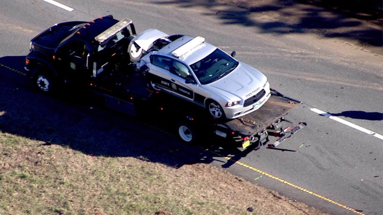North Carolina Highway Patrol officer involved in serious crash