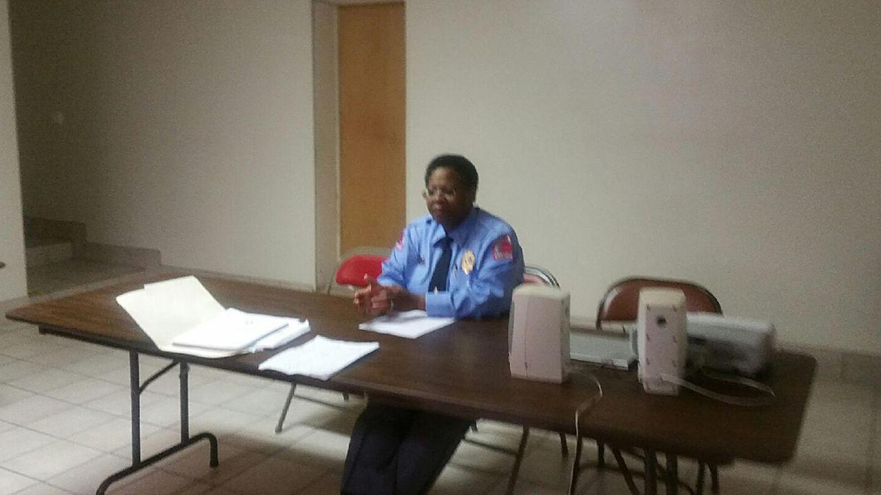 Raleigh Police Chief Cassandra Deck-Brown attended a recent community meeting at Revelation Baptist Church.