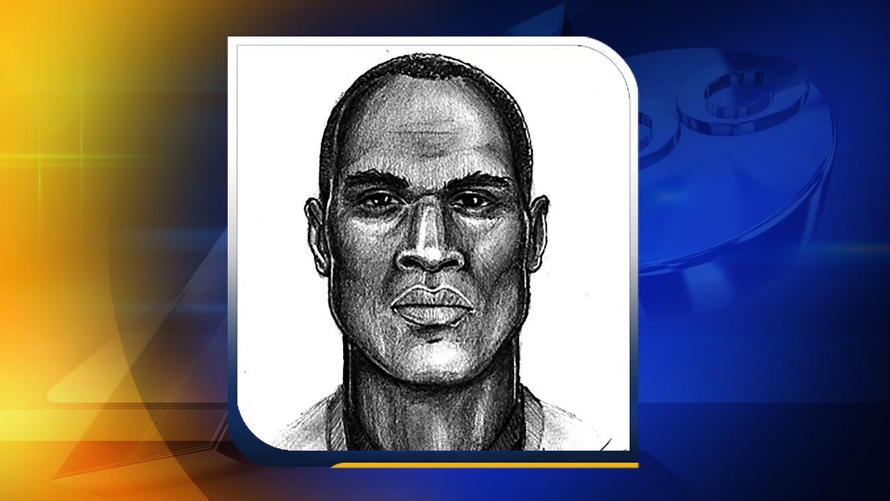 Sketch of the rape suspect.