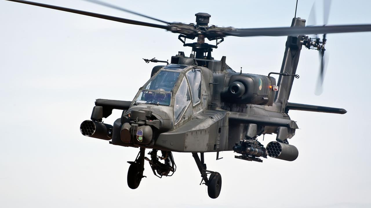 Apache helicopter