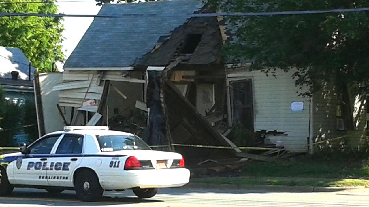 The front of the home was demolished (WTVD Photo/Cornell Simpson)