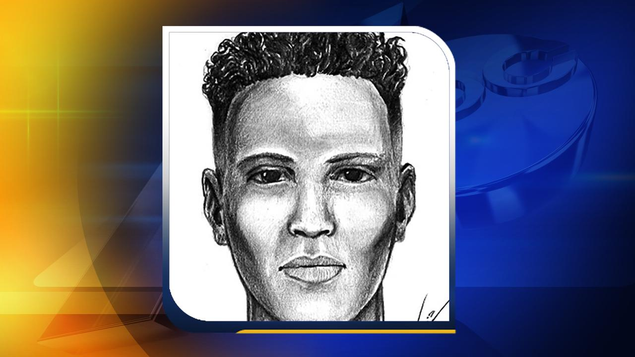 Sketch of a suspect wanted in an attempted sexual assault.