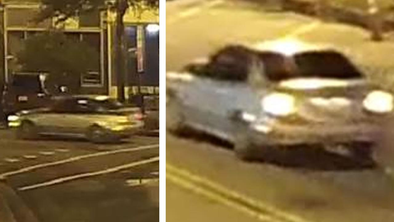 Surveillance video shows suspects vehicle driving along Person Street
